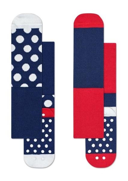 Skarpetki dziecięce Happy Socks 2-pak Big Dot Anti-Slip KBDO19-6000